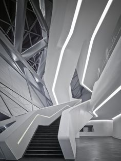 Guangzhou Opera House by Zaha Hadid. Photo via zaha-hadid by Virgile Simon Bertrand.
