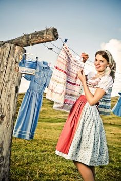 DIRNDL - farm girl style This is how I envision myself. Lol