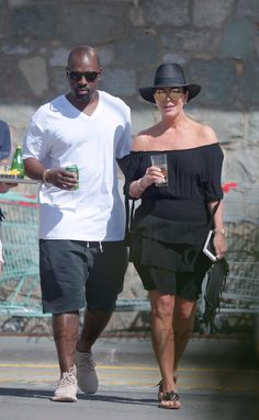Kris Jenner y Corey Gamble
