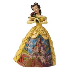 Disney Traditions Enchanted Belle Figurine - Beauty and the Beast - Jim Shore - 4045238 #FineGiftsNottingham #BelleFigurineEnchantedDisneyTraditionsJimShore