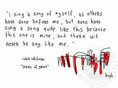 *Leaves of Grass* ~ Walt Whitman