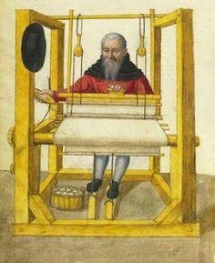 Weaver. Landauer Twelve Brother's House manuscript, c15th Century.