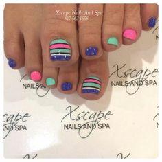 Installation of acrylic or gel nails - My Nails Nail Designs Toenails, Pedicure Nail Art, Pedicure Designs, Toe Nail Designs, Cute Toenail Designs, Pedicure Ideas, Nail Ideas, Pretty Toe Nails, Cute Toe Nails