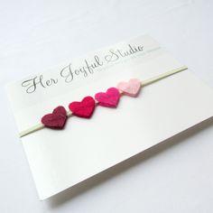 Baby Heart Headband... Felt Heart Headband... Valentines