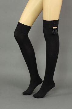 WOMEN SOCKS Thigh high tassel accessories  sock  - tassel Socks,knee socks,black socks, boot socks ,Women leg warmers,leg warmers,legwarmers on Etsy, $34.99