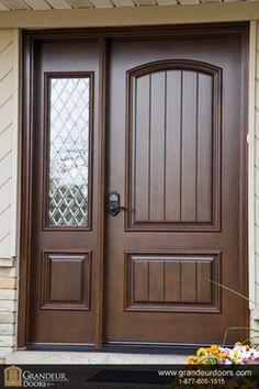 Custom wood doors by Grandeur Doors modern windows and doors Single Door Design, Door And Window Design, Home Door Design, Wooden Front Door Design, Double Door Design, Door Gate Design, House Gate Design, Wooden Front Doors, Door Design Interior