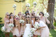 Todas las damas con lentes - Divertidas ideas de fotos originales para la Boda