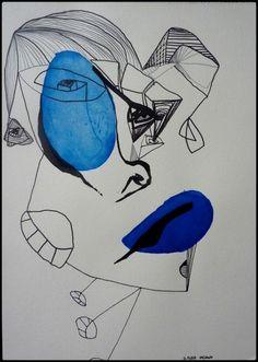 21 x 29.7 cm  acrylique, encre de chine et crayon sur papier