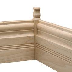 EverTrue 0.875-in x 6.75-in Interior White Hardwood Inside Corner Baseboard Moulding Block