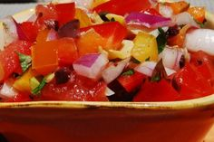 Greek Garden Salsa with Pita Chips from CGG