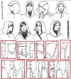 Hood Pattern Sewing, Sewing Patterns, Fashion Sewing, Diy Fashion, Sewing Clothes, Diy Clothes, Sewing Hacks, Sewing Tutorials, Pattern Draping