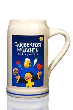 1 Liter Oktoberfest Stein. Official beer stein for 2012