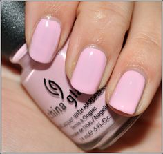 China Glaze Up & Away Collection 2010: Something Sweet, a nice light look for spring.