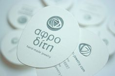 Aphrodite hand-made jewelry logo & business card by Panos Nikolaou
