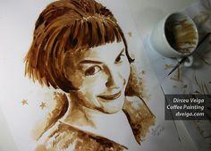 Coffee paintings #coffee #coffeeart