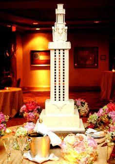 tower cake! hook 'em