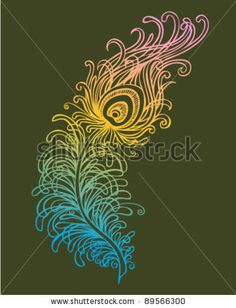stock vector : Stylized Peacock Feather (VECTOR)