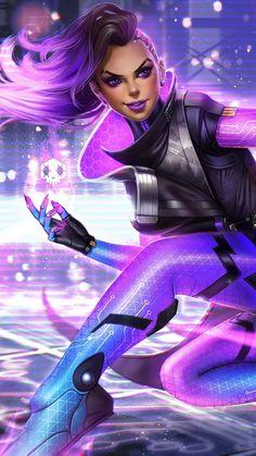 Sombra Overwatch Warrior In 1080x1920 Resolution