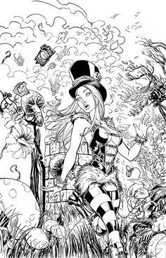 Grimm Fairy Tales : Wonderland Asylum inks by cehnot on DeviantArt