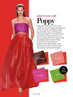 What to wear with...poppy red.