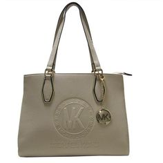 Michael Kors Jet Set Travel Logo Medium Apricot Totes Can Be Every Property Of Everyone! Owning It, You Will Own High Quality Life, Come To Purchase One! #fashion