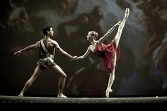 Anastasia Stashkevich and Yonah Acosta in the Diana and Acteon Pas de Deux, as part of the Dance Open Festival 2012. Photo (c)Nikolay Krusser.