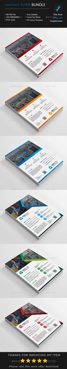 Professional Corporate Flyer  Mixed All Graphics