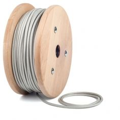 Silver textile cable by cablelovers.com