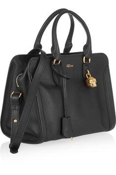 Alexander McQueen   Padlock small textured-leather shoulder bag   NET-A-PORTER.COM