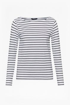 French Connection Stretch jersey long-sleeved t-shirt with stripes