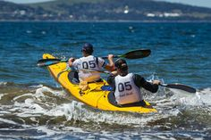 Bit of paddling for Courtney Atkinson and Kenny Wallace #MarkWebberChallenge