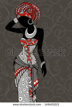 Purchase Hand Drawn Beautiful Black Womanafrican Beauty African People Woman Silhouette Shower Curtain Inches from Andrea Marcias on OpenSky. Beautiful African Women, African Beauty, African Fashion, Ankara Fashion, African Girl, African American Art, African Men, African Attire, African Style