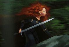 Brave concept art of Merida by Steve Pilcher