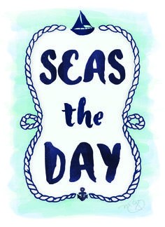 SEAS THE DAY - Watercolor Greeting Card ft. Typography & Nautical Illustrations - Inside the Envelope: Stages of Design | Part 3 by Michelle Gray via Born Creative Blog #makeithappenmay #showyourropes #graphicdesign
