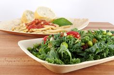 """PaperlessKitchen Leafware Dinner Value Pack - 10 Inch Square Plate and 6""""x9"""" Tray"""