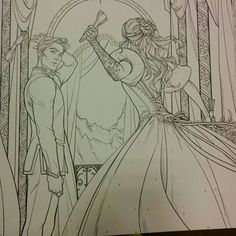 SOME ACOTAR COLOURING BOOK TEASERS!!!! THE SHOE THROWING SCENE
