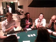 Tom, Anthony, Patrick and Andrea at the recent Kadence UK poker night. Read them and weep!