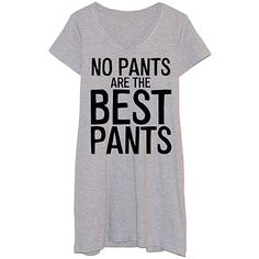 Frillies Athletic Heather 'The Best Pants' Sleep Shirt ($20) ❤ liked on Polyvore featuring intimates, sleepwear, pajamas, long night shirt, long nightshirt, long pajamas, sleep shirts and long sleep shirts