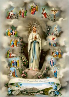 """""""I cannot promise you happiness in this world, only in the next."""" ~ Words of our mother Mary, to St. Bernadette.  Image links to a beautiful article on the sufferings of St. Bernadette"""