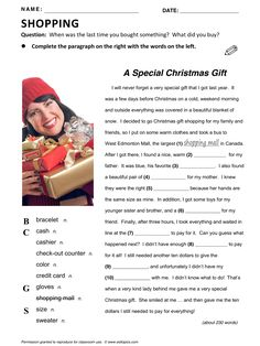 Shopping, vocabulary, ESL, English phrases, http://esltopics.com/bonus-handouts