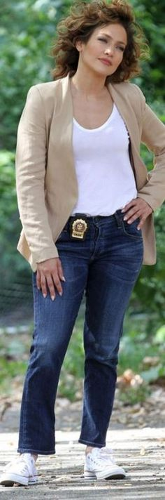 Jennifer Lopez in Shoes – Converse  Jeans – Citizens of Humanity