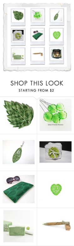 """""""Green gifts!"""" by keepsakedesignbycmm ❤ liked on Polyvore featuring SkinCare, Quinto, jewelry, accessories and decor"""