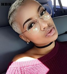 We love it and we know you also love it as well HBK TOP Fashion Clear Sunglasses Women Popular Brand Designer Round Style Sun Glasses For Women Lady Glasses Female Gold UV400 just only $5.53 with free shipping worldwide  #womanaccessories Plese click on picture to see our special price for you