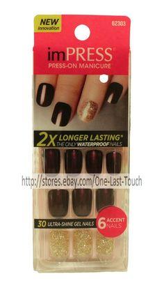 KISS* imPRESS Press-On Manicure BELLS & WHISTLES 30 Nails+ACCENT Ultra Gel 1/2 #BroadwayNailsakaKissNails