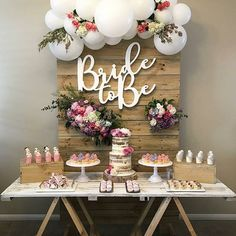 Bride to be party decor