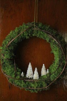 NOEL letters made from rustic wood plus a simple wreath. Love this presentation. Mini Christmas Tree, Winter Christmas, Christmas Wreaths, Christmas Decorations, Simple Christmas, Rustic Christmas, Green Christmas, Winter Wreaths, Miniature Christmas