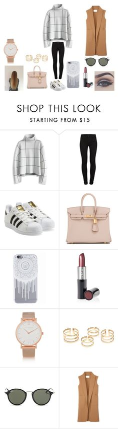 """""""Statements"""" by dreaming-of-a-better-tomorrow ❤ liked on Polyvore featuring Chicwish, J Brand, adidas Originals, Hermès, Bellezza, Mary Kay, Larsson & Jennings, Ray-Ban and Alexander Wang"""