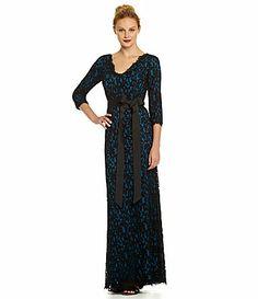 Tadashi 34Sleeve Lace Gown #Dillards