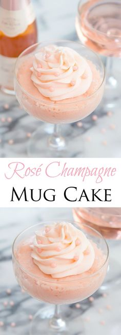 This fluffy cake is flavored with rosé champagne and is a delicious dessert for NYE.