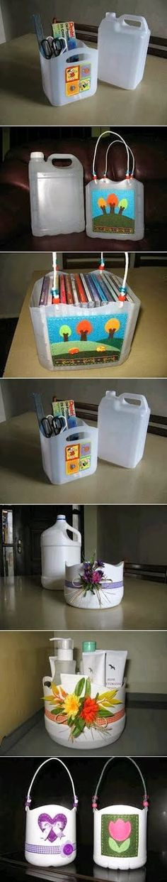 Recycling : Plastic Bottle Baskets